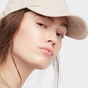 FREE PEOPLE Williamsburg Faux Suede Baseball Cap